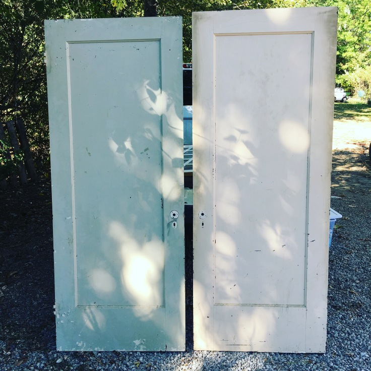 Antique rustic vintage doors for Two Neighbors Makery