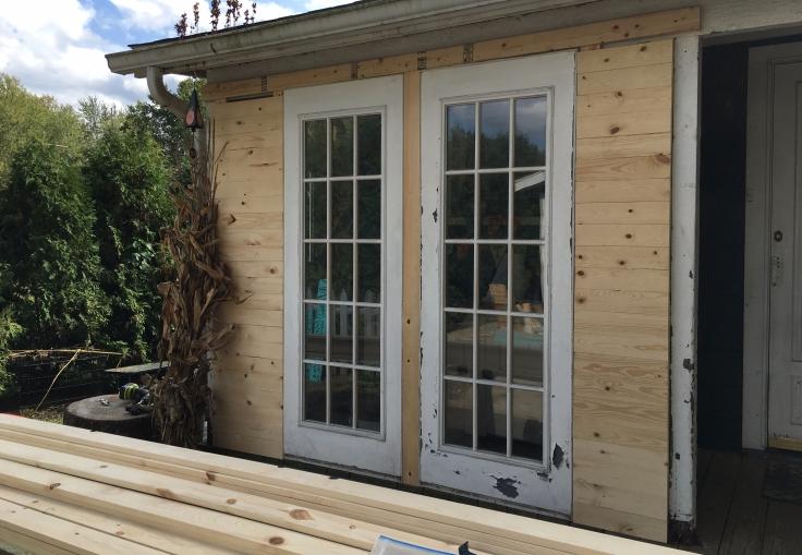 DIY farmhouse porch